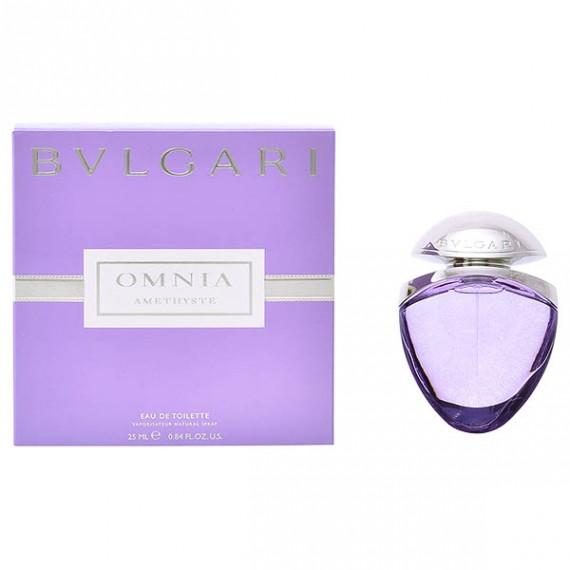 Perfume Mujer Omnia Amethyste Bvlgari EDT satin pouch