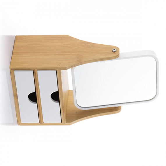 Espejo de Sobremesa con Cajones Bamboo