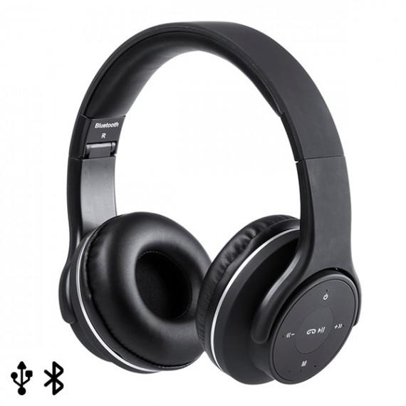 Auriculares de Diadema Plegables con Bluetooth USB FM 6W Negro 146131