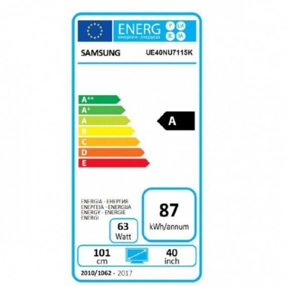 "Smart TV Samsung UE40NU7115 40"" 4K Ultra HD LED WIFI Negro"