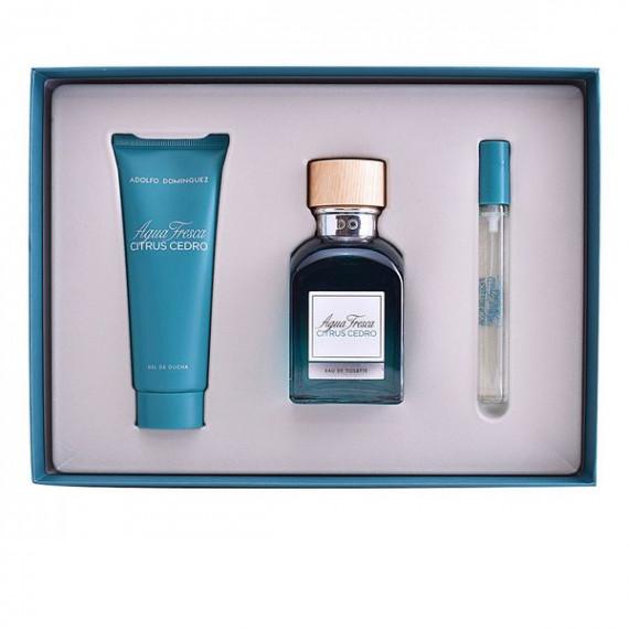 Set de Perfume Hombre Agua Fresca Citrus Cedro Adolfo Dominguez (3 pcs)