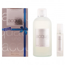 Set de Perfume Mujer Acqua Uno Luxana 600001 (2 pcs)