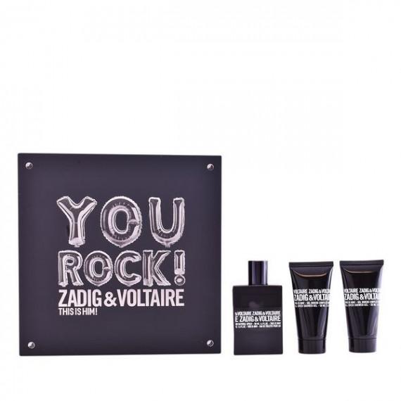 Set de Perfume Hombre This Is Him! You Rock! Zadig & Voltaire (3 pcs)