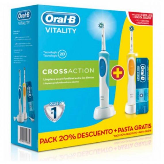 Cepillo de Dientes Eléctrico Oral-B DUO VIT.CROSS 2 (3 pcs)