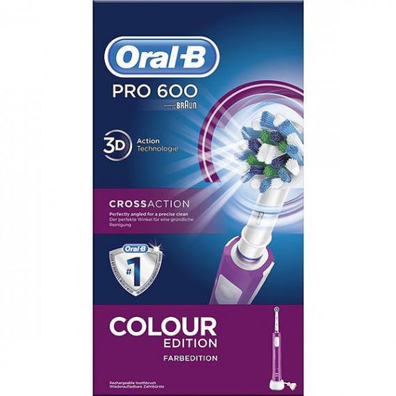 Oral-B Pro 600 Cepillo dental oscilante Púrpura