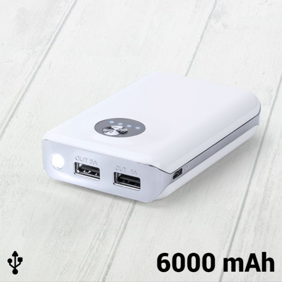 Power Bank con Doble USB 6000 mAh 144962